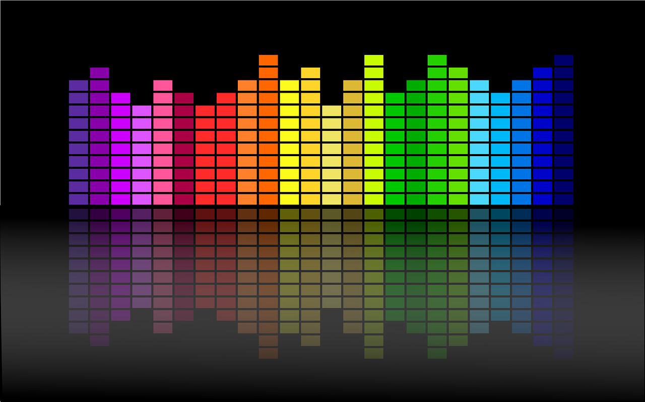 Colourful equaliser image