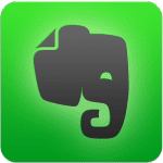 Evernote logo - elephant on green background.