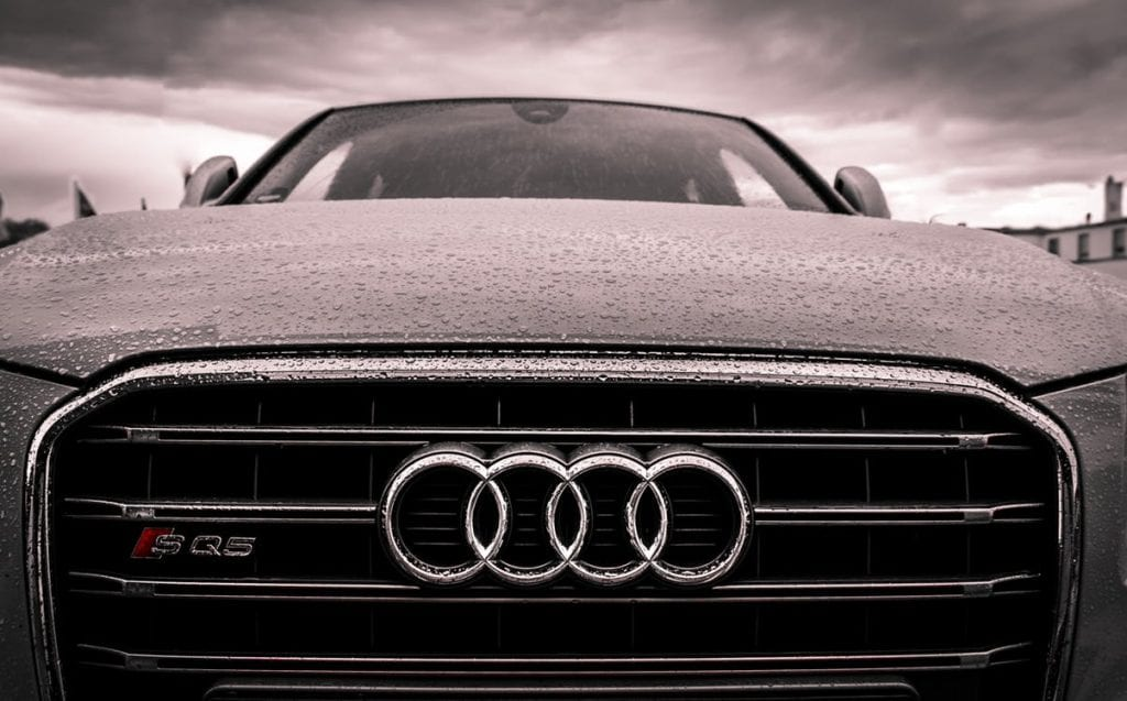 Car with the Audi logo.