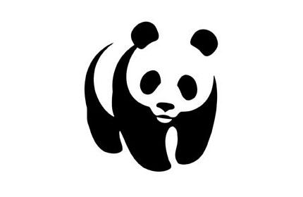 World Wildlife Foundation's panda logo.