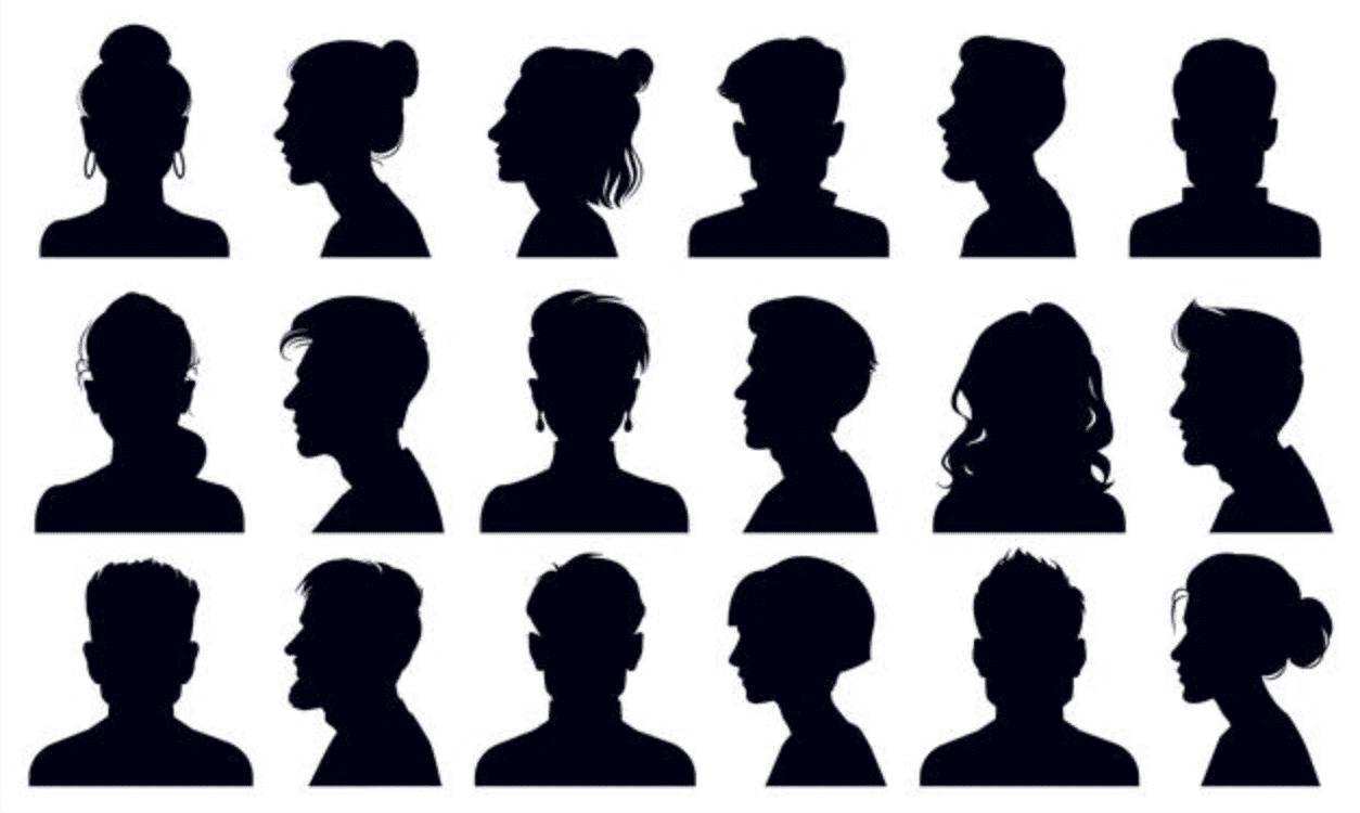 headshots of mystery people