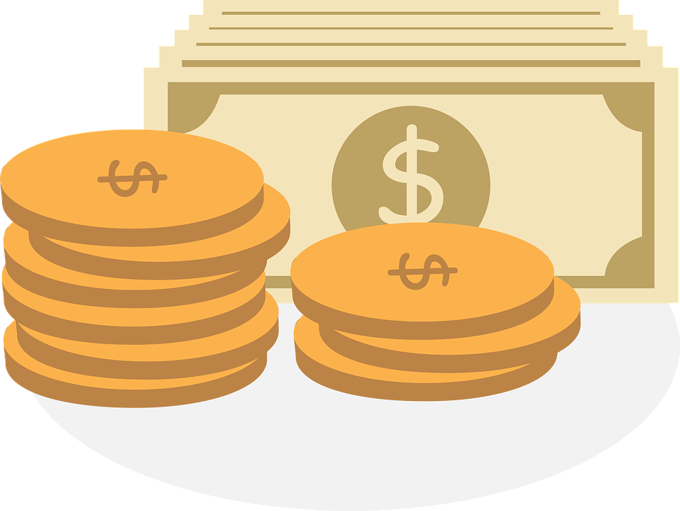 Illustration of two small stacks of coins, with some bank notes behind. Time tracking can help you make more money.