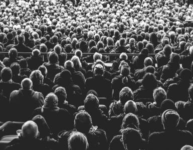 Black and white photo of a crowd. This article tells you how to set up a campaign on Crowdfunder.co.uk