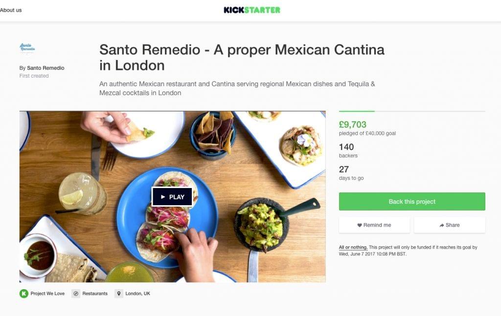 Santo Remidio's Kickstarter campaign page.