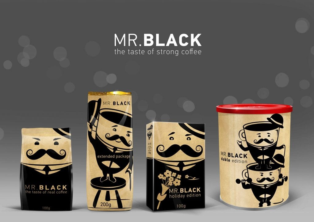 Branding by Sandra Milojevic. Coffee packaging based around an original character design.