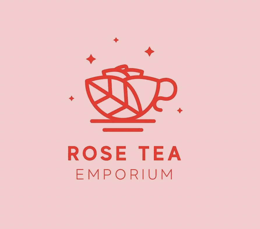 graphic design of rose tea pink