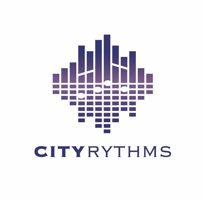 city rhythms logo design record label company