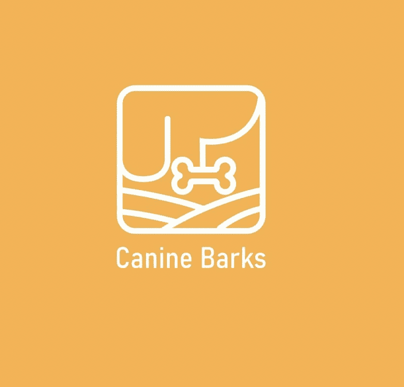 canine barks dog food company logo design idea