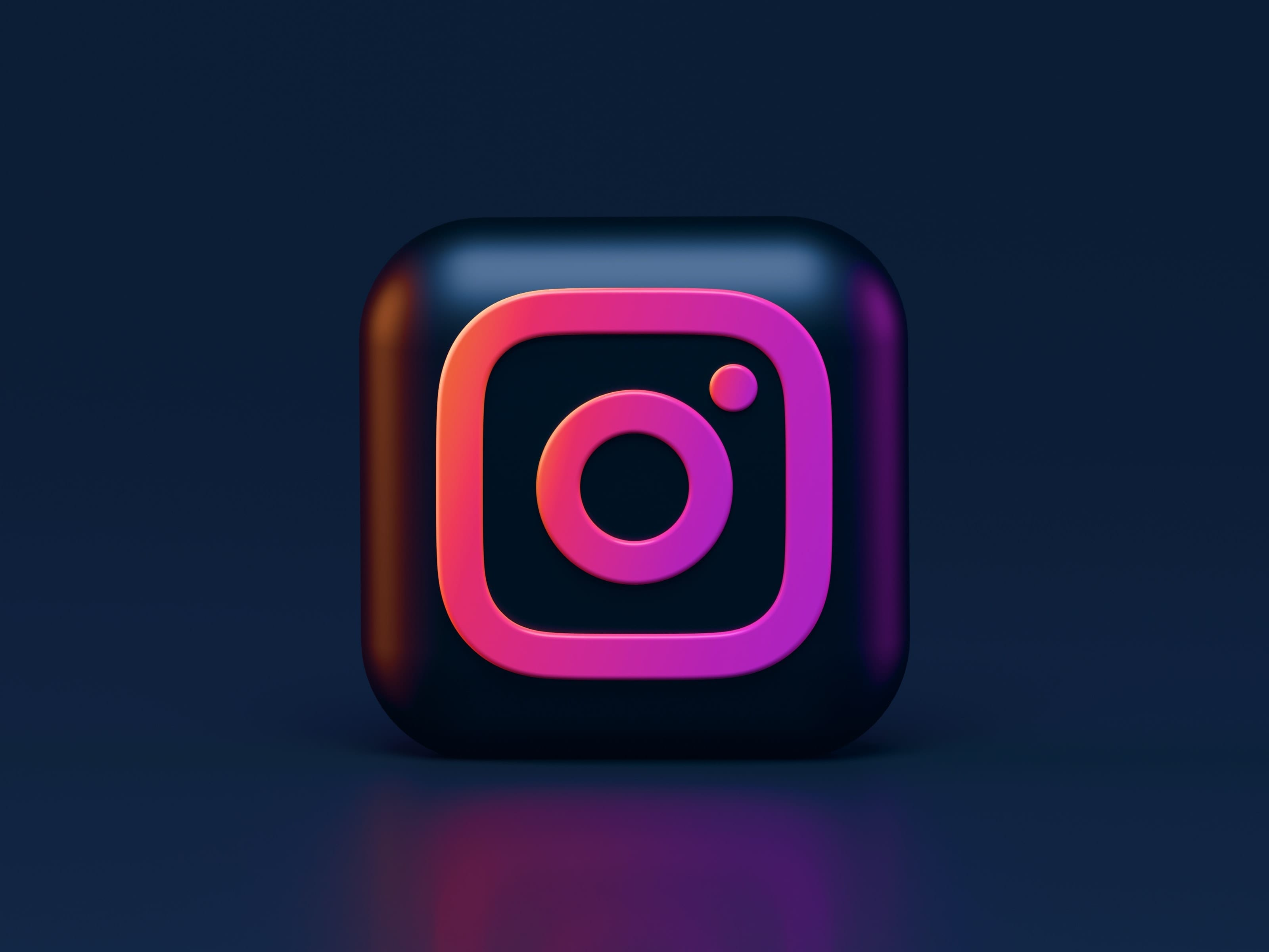 graphic design of instagram logo with black background
