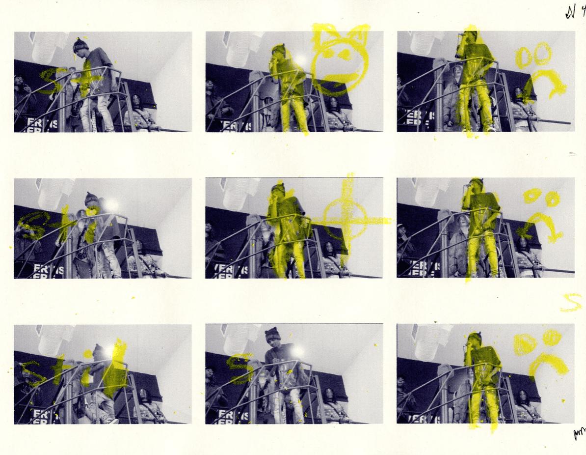 3d animation portfolio design, showing yellow works in progress