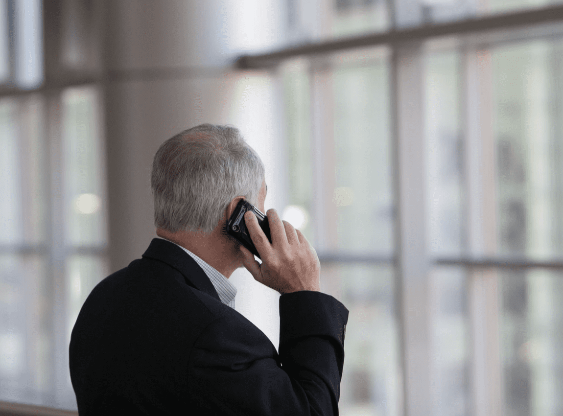 man on phone using a method of communication