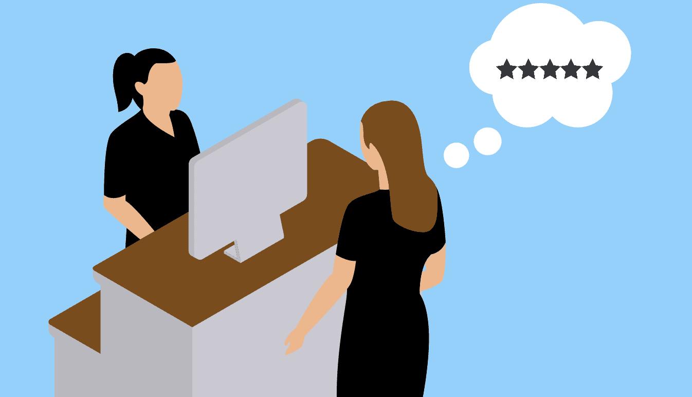 a customer having a good experience