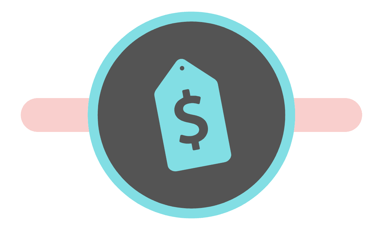 graphic showing money symbol on price tag