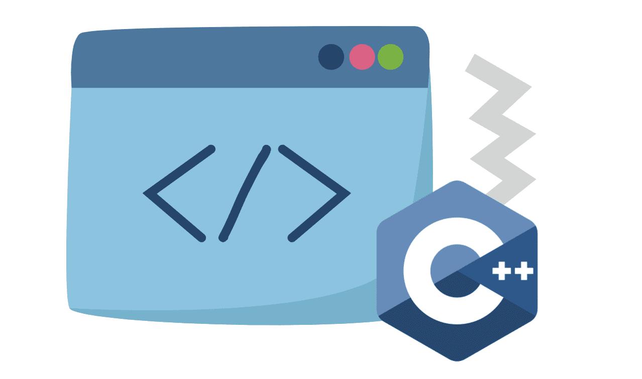 graphic showing web development symbols
